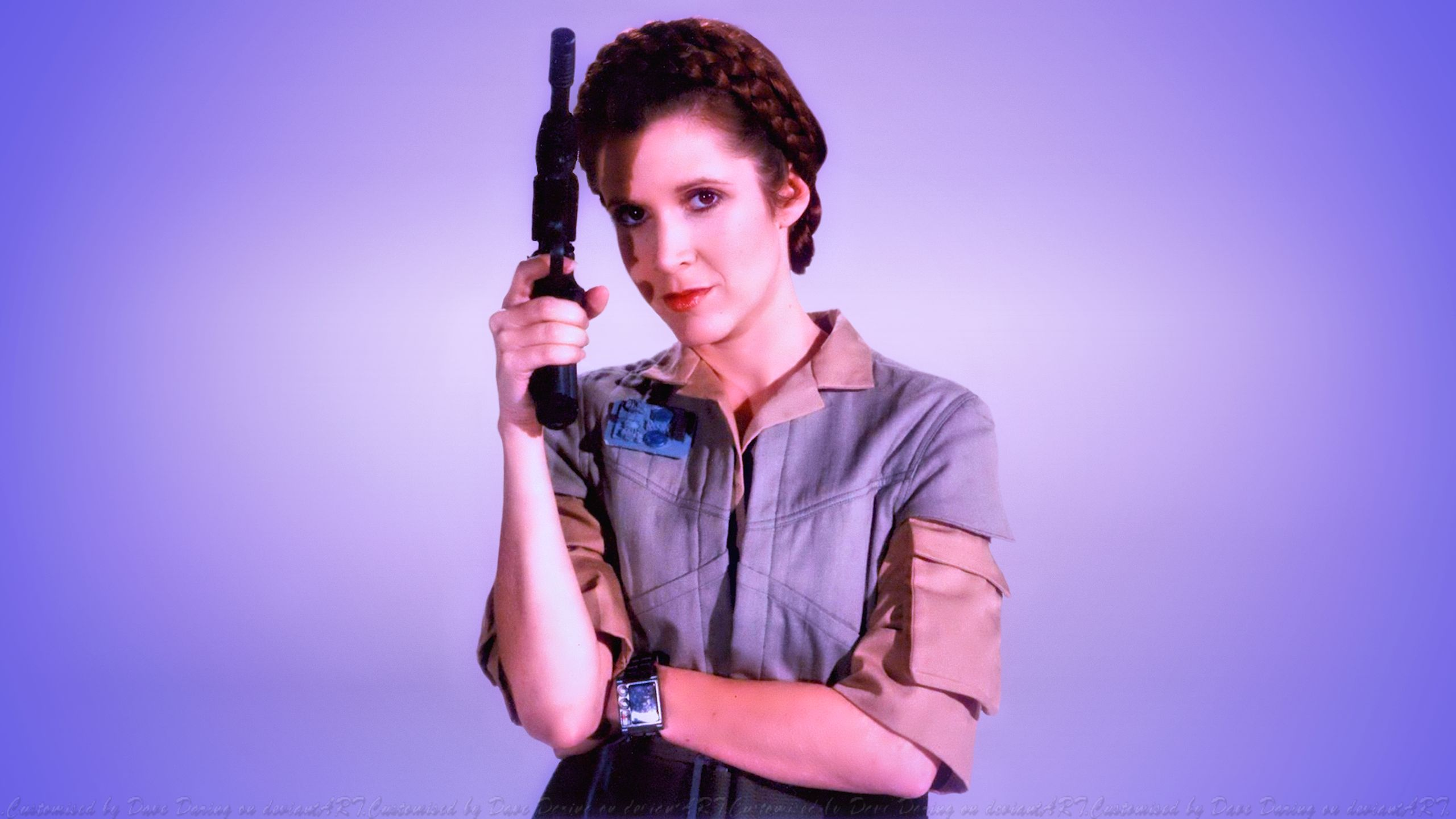 Carrie Fisher Princess Commando by Dave-Daring