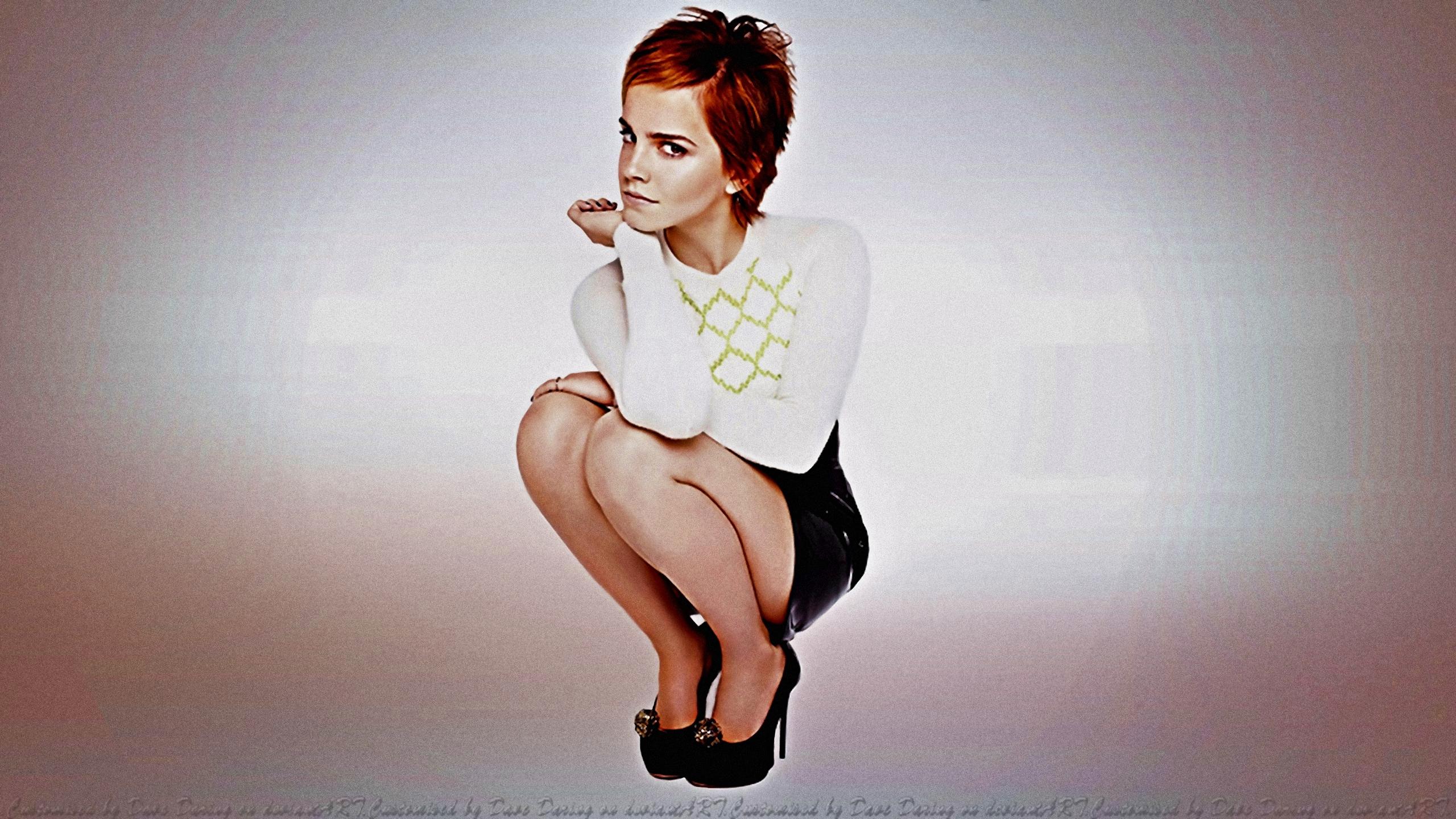 Emma Watson Kinky Skirt by Dave-Daring