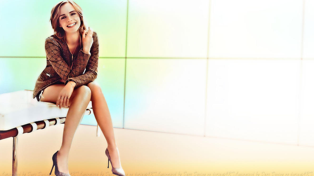 Emma Watson Legs by Dave-Daring