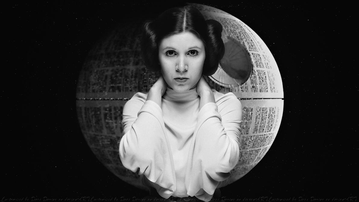 Carrie Fisher Princess and the Death Star by Dave-Daring