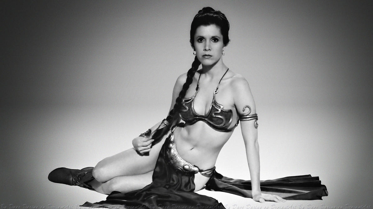 Carrie Fisher Slave Girl Princess VII by Dave-Daring