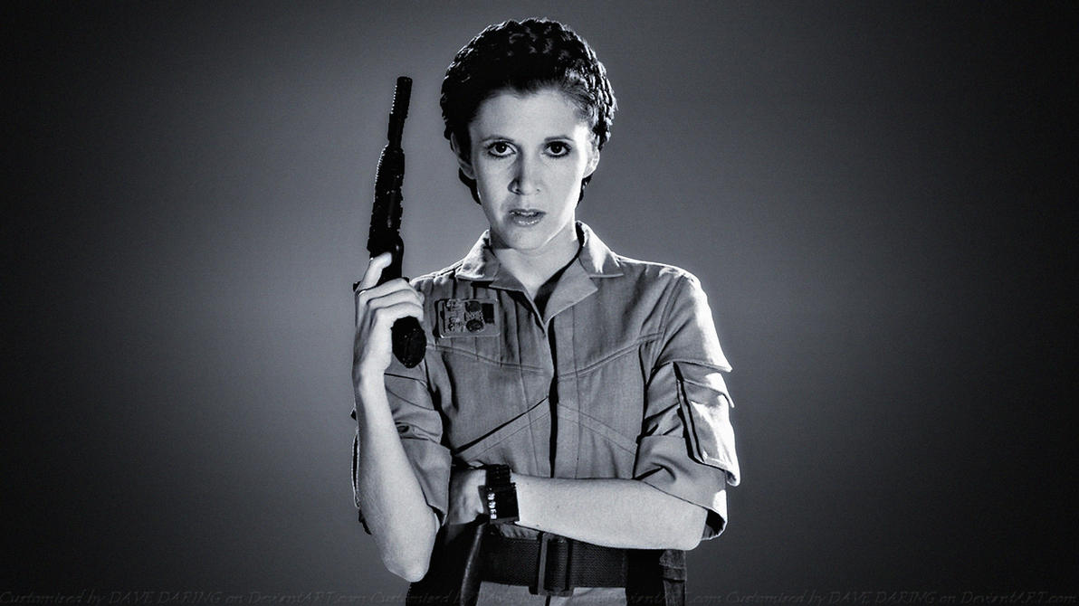 Carrie Fisher Princess Commando II by Dave-Daring