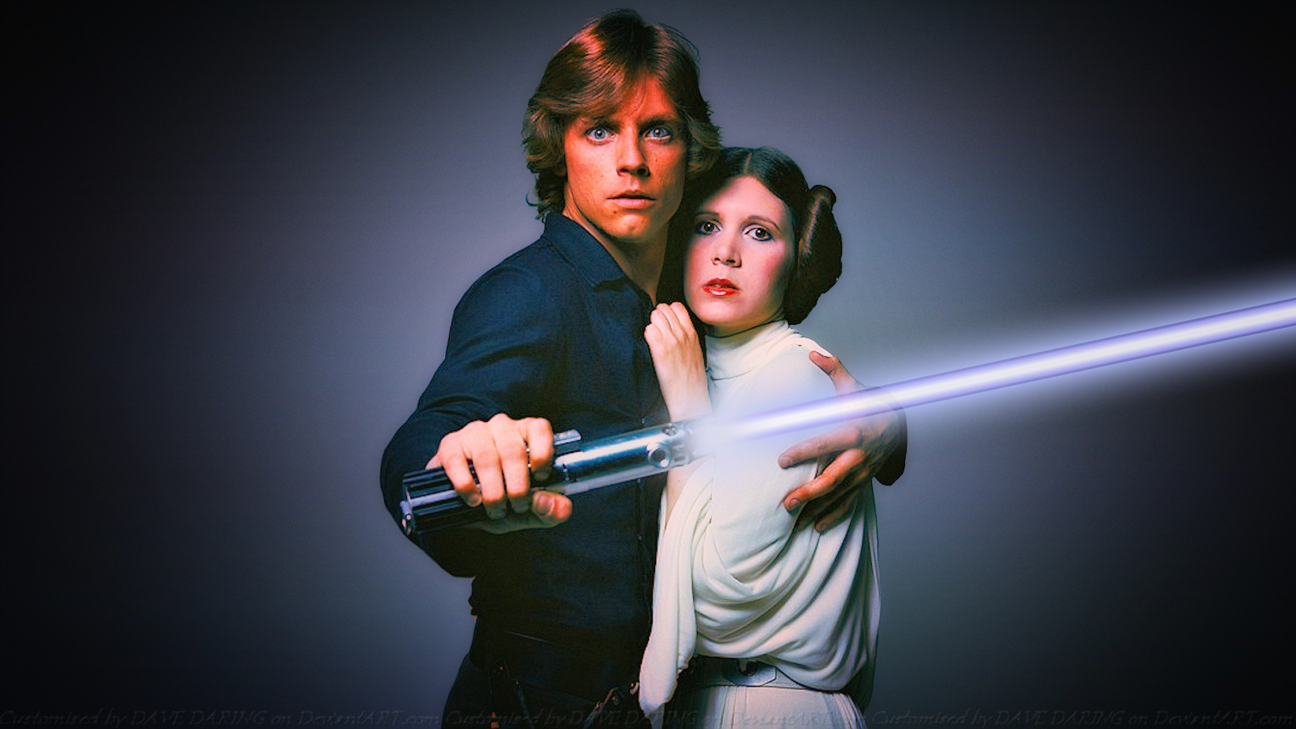 Carrie and Mark SKYWALKERS II by Dave-Daring