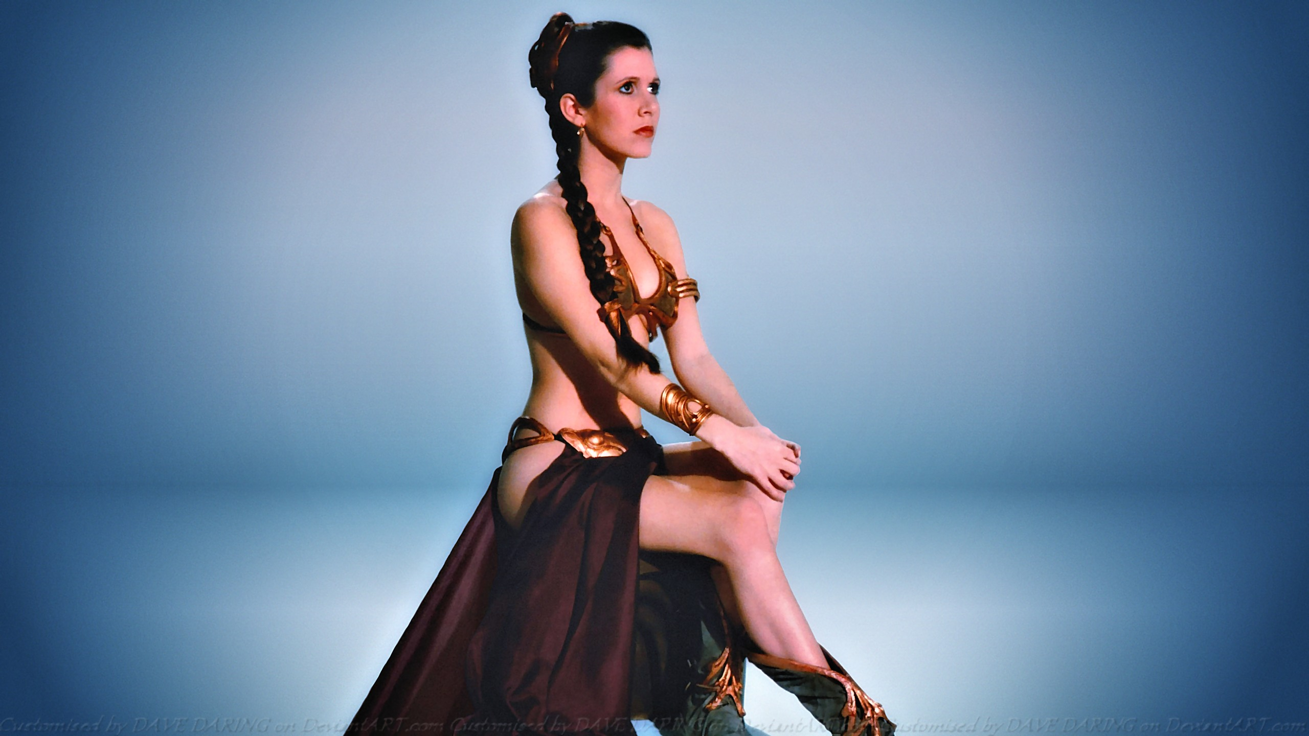 Carrie Fisher Slave Girl Princess IX by Dave-Daring