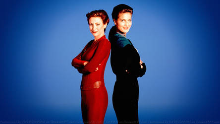 Terry Farrell + Nana Visitor Dax and Nerys