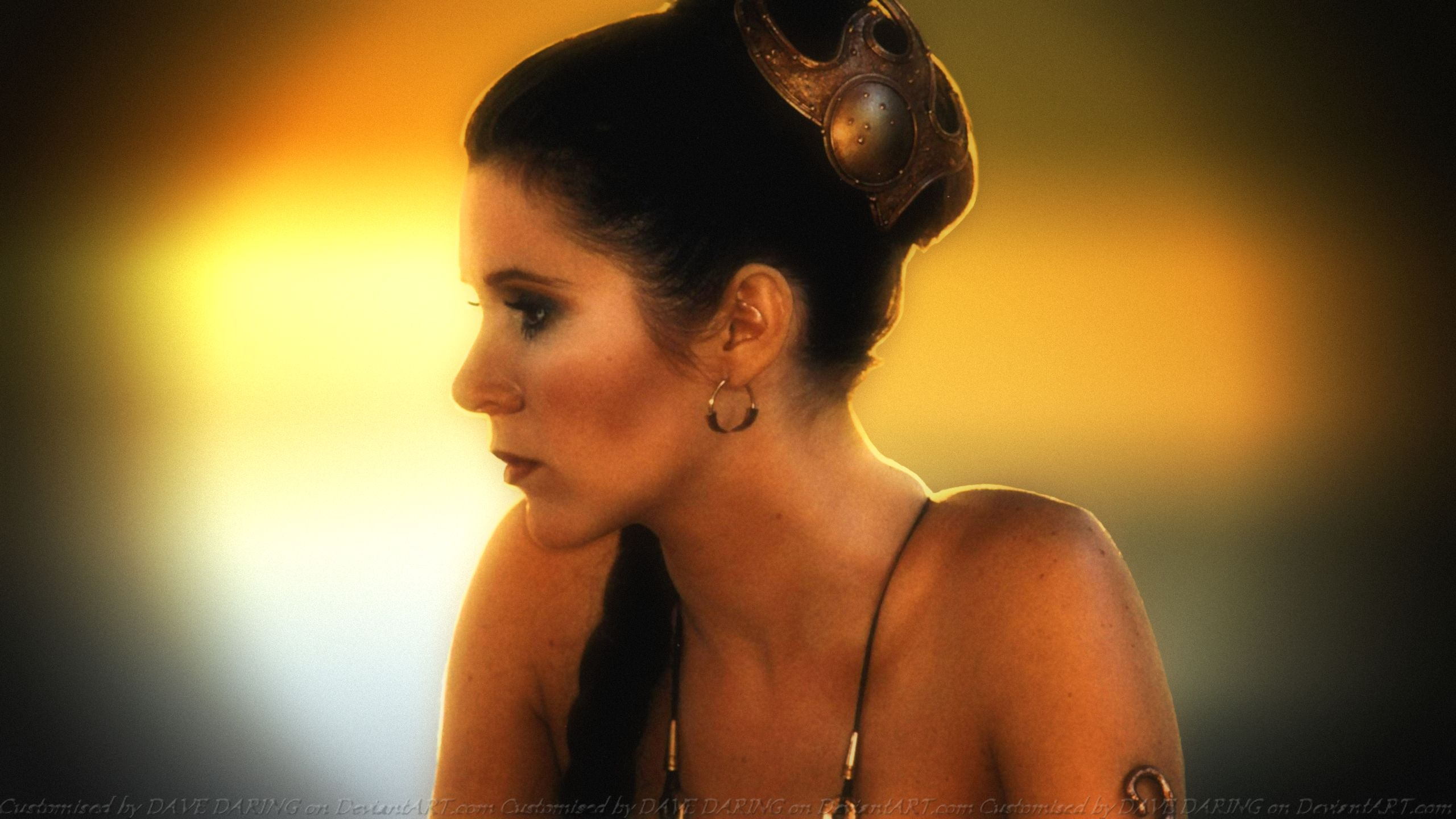 Carrie Fisher Slave Girl Princess XI by Dave-Daring