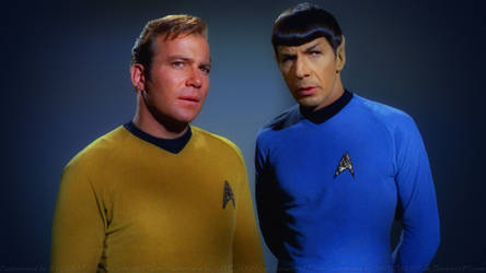 Spock and Kirk II by Dave-Daring