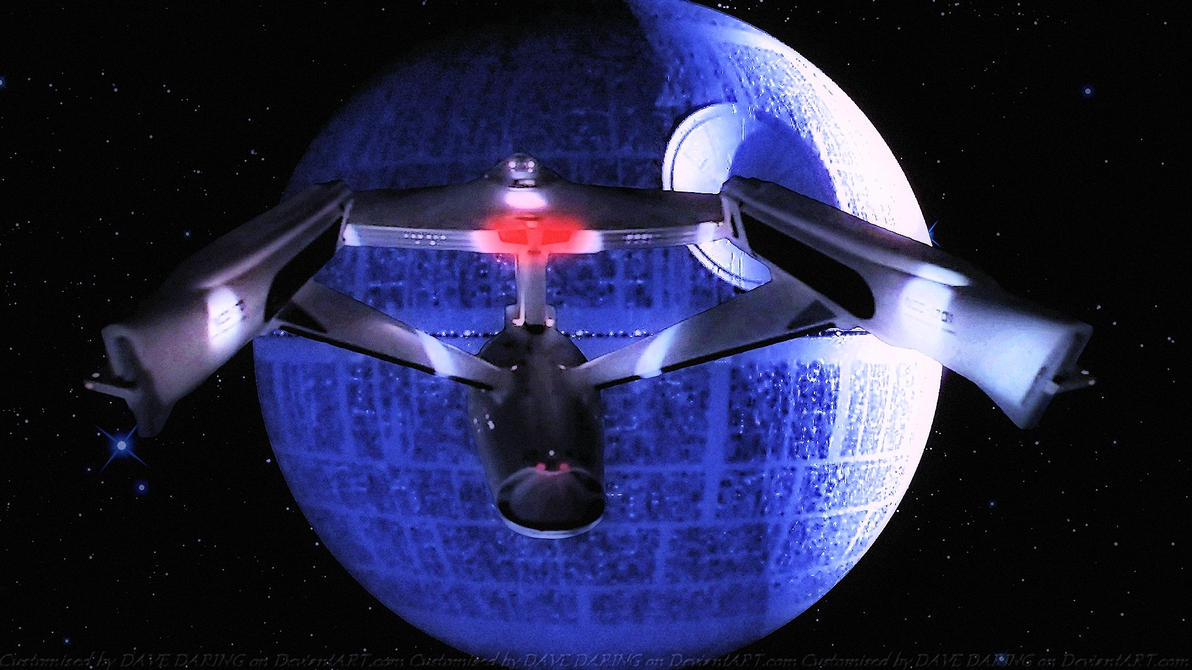 USS Enterprise Vs The Deathstar by Dave-Daring