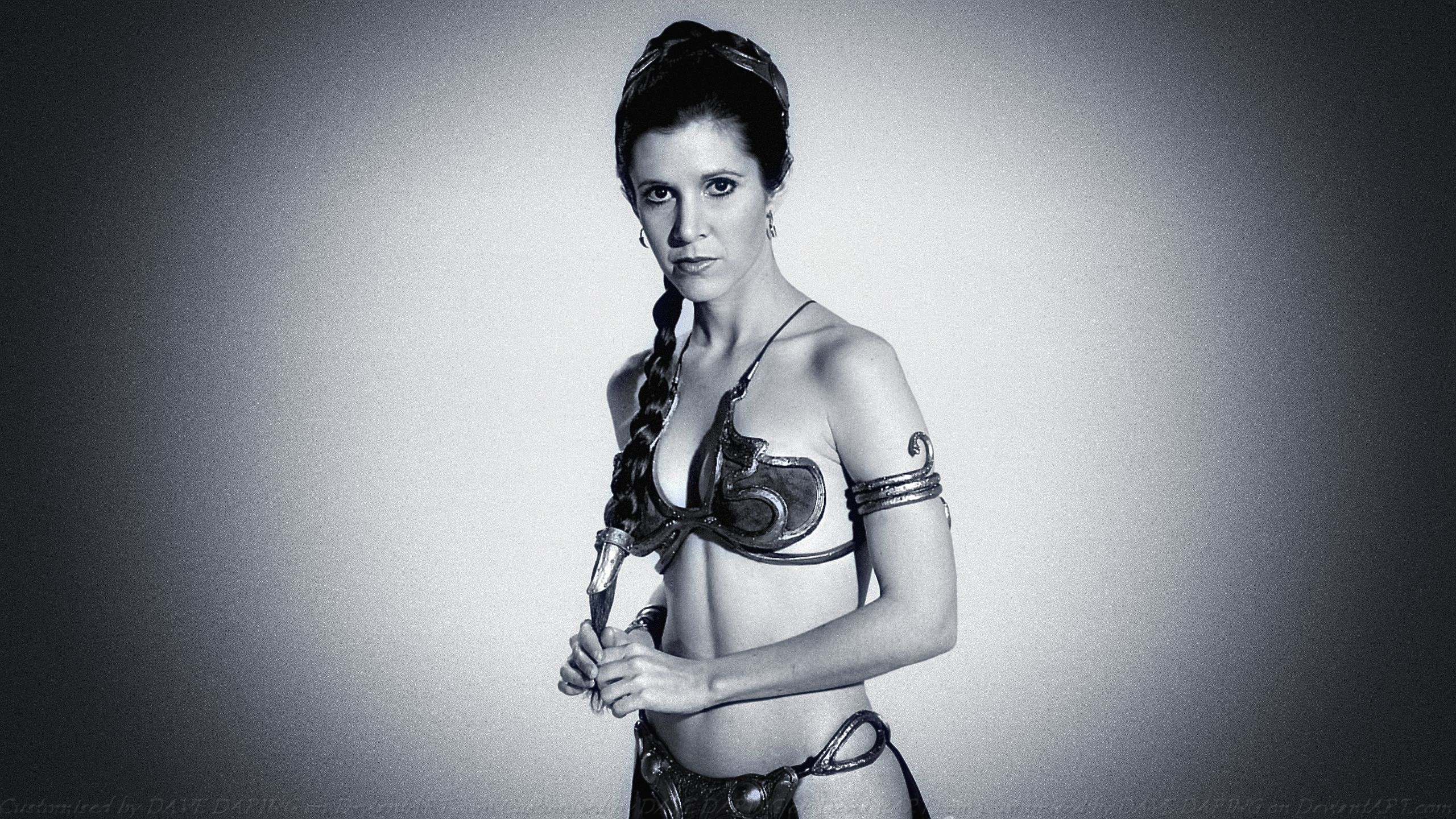Carrie Fisher Slave Girl Princess XIII by Dave-Daring