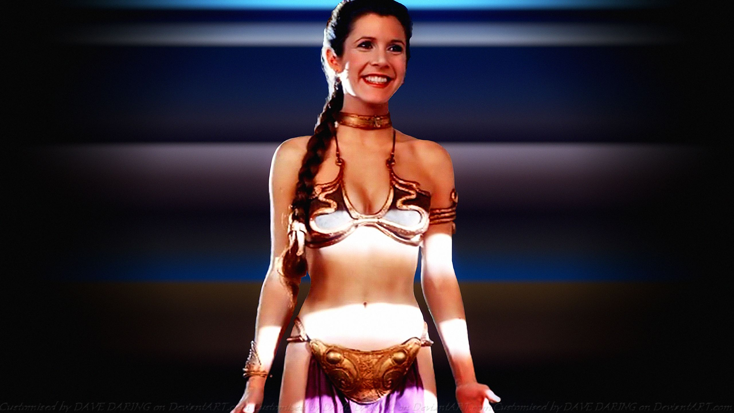 Carrie Fisher Slave Girl Princess XIV By Dave-Daring On