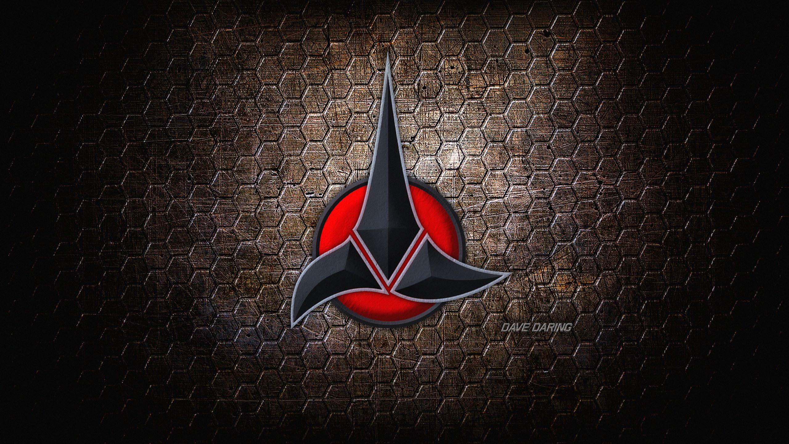 The klingon empire v2 by dave daring on deviantart - Star trek symbol wallpaper ...
