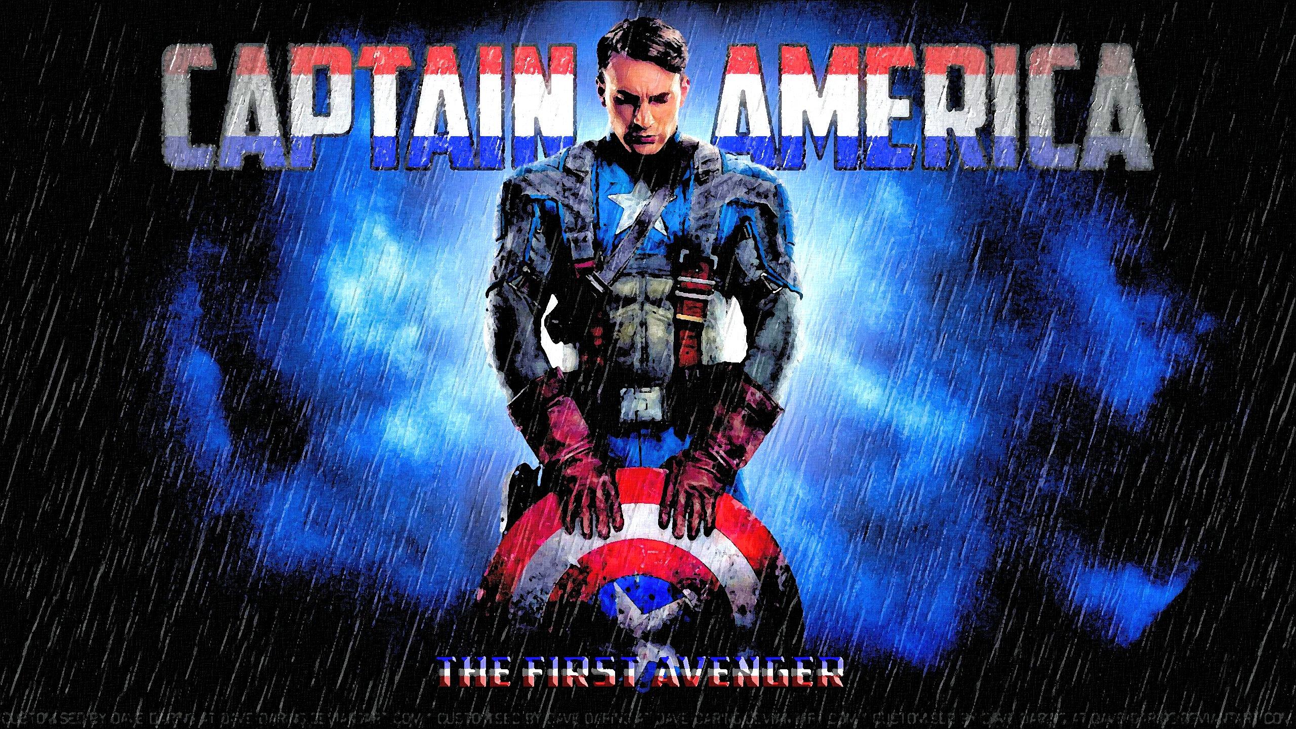 Chris Evans Captain America V 1st Avenger Poster By Dave Daring On