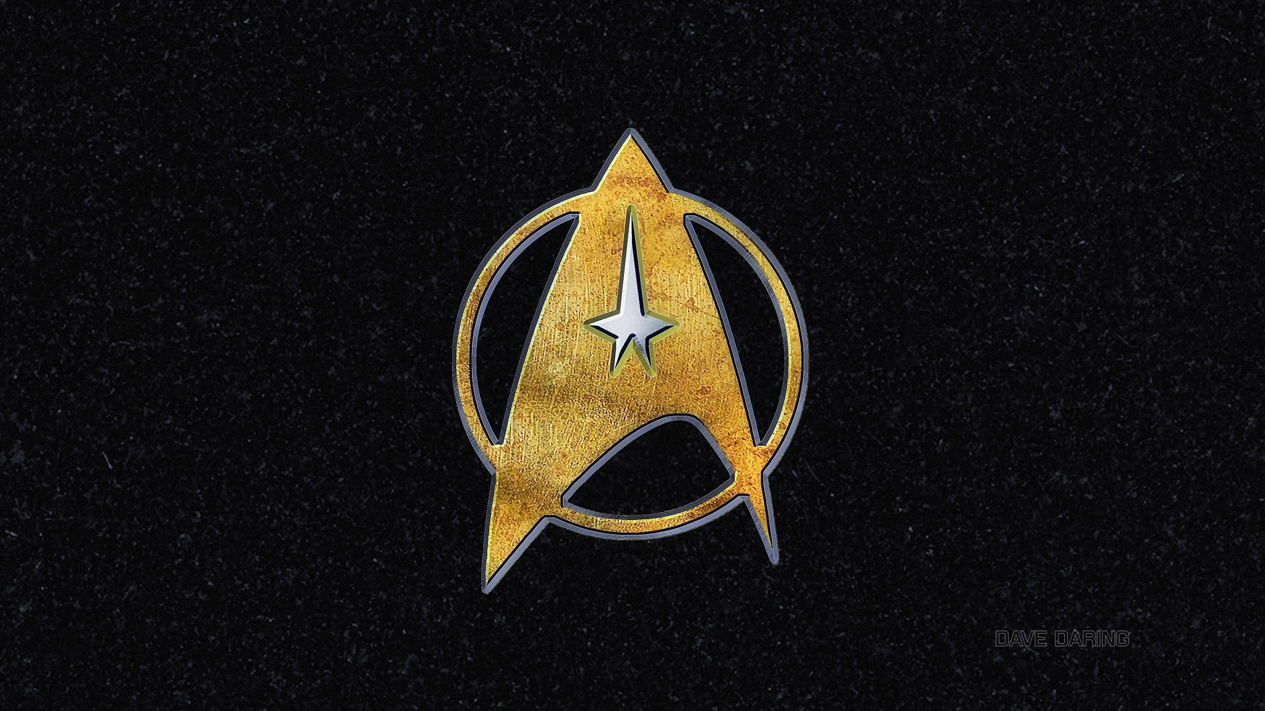 Star trek symbol in brass silver and black granite by dave - Star trek symbol wallpaper ...