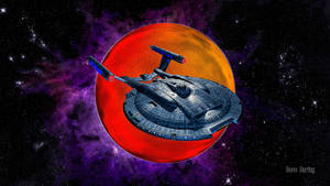 USS Enterprise NX-01 and the Demon Class planet by Dave-Daring