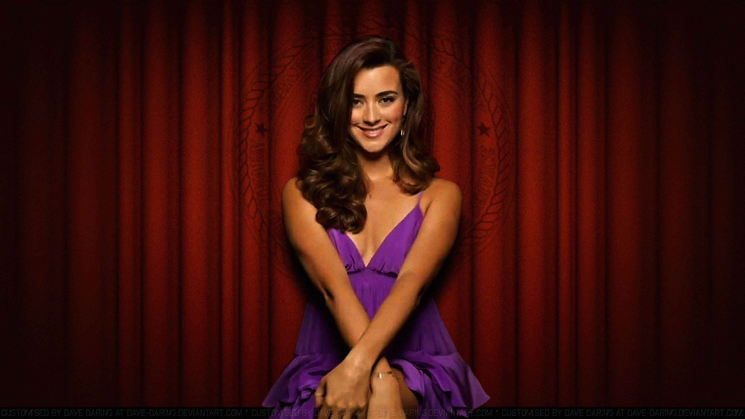 Cote De Pablo Red Curtain by Dave-Daring on DeviantArt