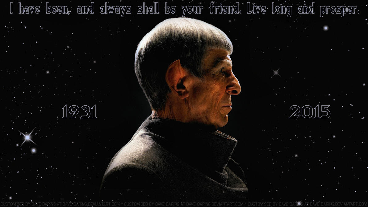 Leonard Nimoy The Final Frontier V2 by Dave-Daring