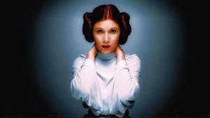 Carrie Fisher Princess Leia Colourise Smile