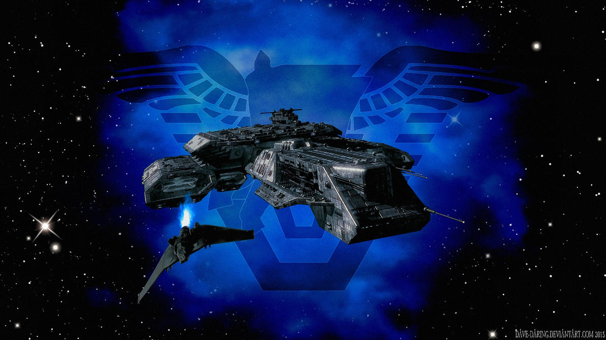 BC-304 and F-302 in the Pegasus Galaxy by Dave-Daring