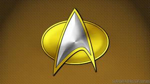 Comm Badge Tech Mustard/Gold