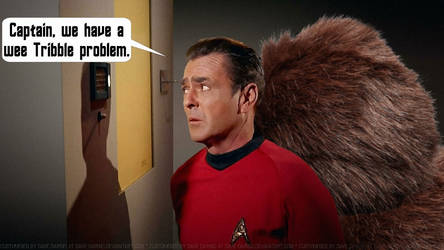 James Doohan Scotty and the Giant Tribbles by Dave-Daring