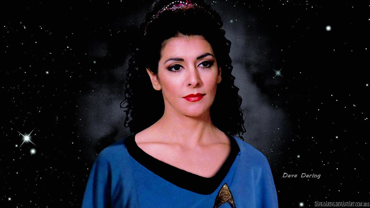 Marina Sirtis Troi NCC-1701 Ship's Counsellor by Dave-Daring
