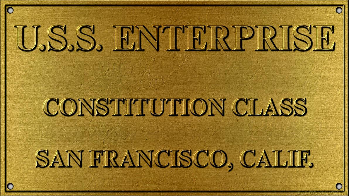 Dedication Plaque USS Enterprise (Refit) by Dave-Daring
