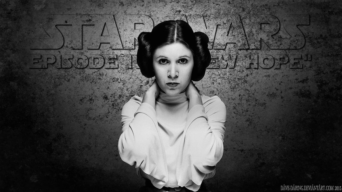 Carrie Fisher Princess Leia Paint v2 by Dave-Daring