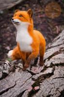 Fox felt sculpture, Fox named Finn 3 by Lyntoys