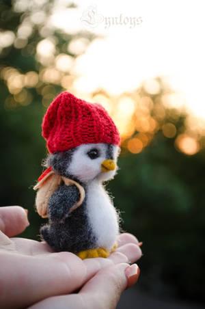 Penguin named Aku by Lyntoys