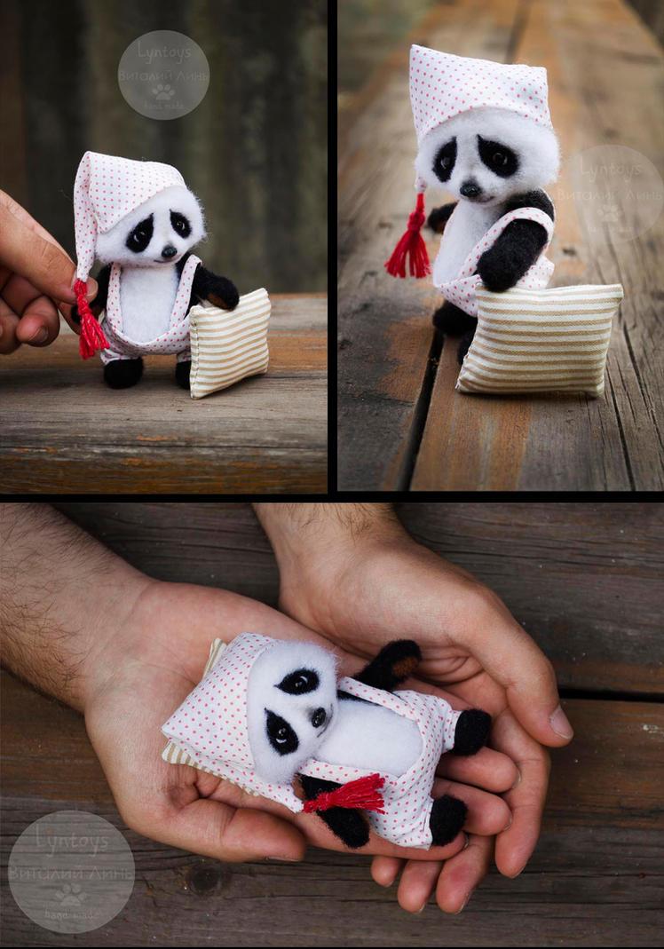 Peter panda needlefelting toy by Lyntoys