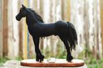 Black Horse Needle Felted