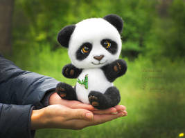 Panda Needle Felted Yuko by Lyntoys