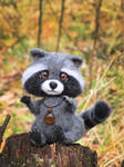 Raccoon Needle Felted Toy