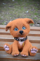Puppy Needle Felted Arnie by Lyntoys