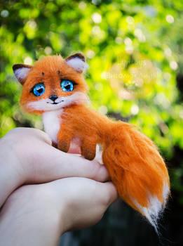 Baby Fox Needle Felted