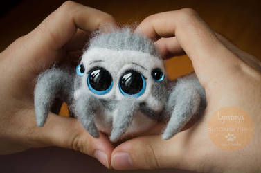 Cute Jumping Spider Needle Felting