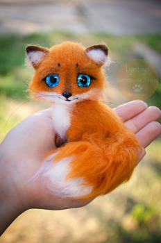 Fox Needle Felted Miniature