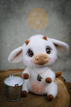 Cow Needle Felted