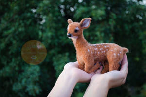 Deer Needle Felted by Lyntoys