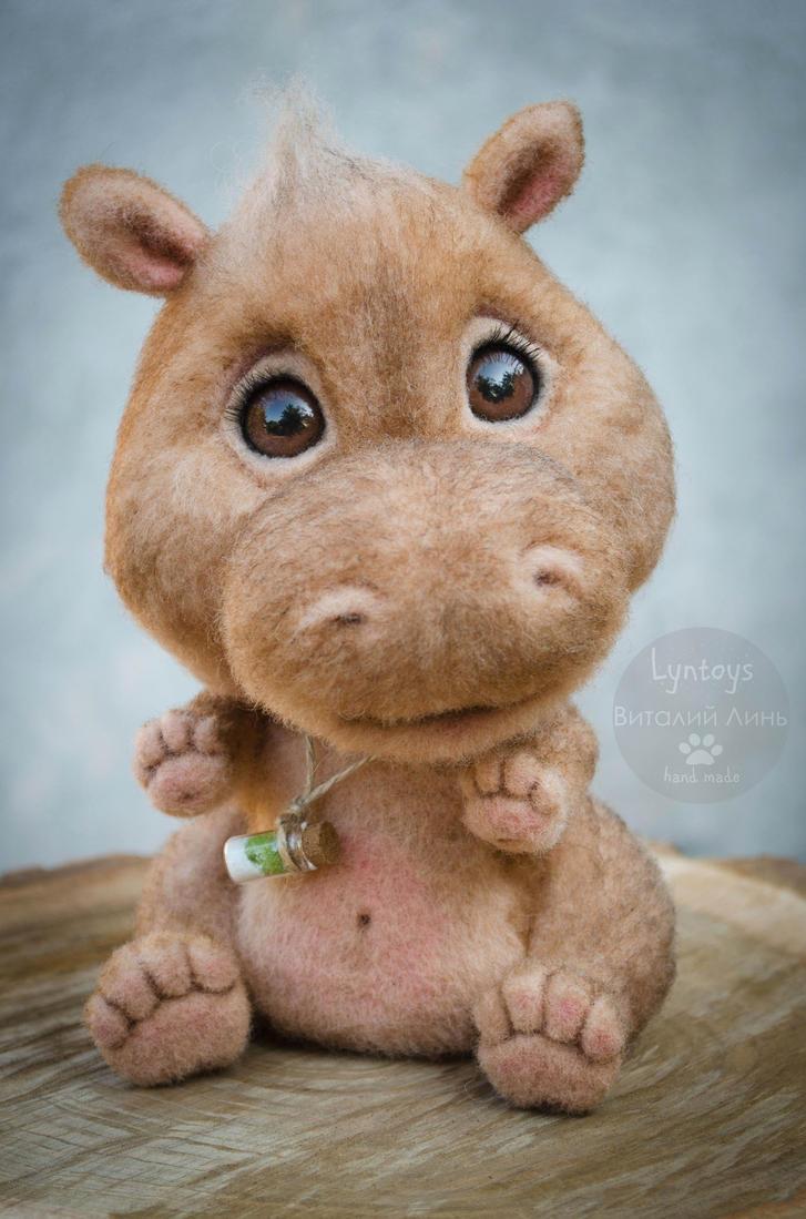Baby Hippo Handmade Toy by Lyntoys