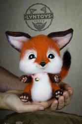 Foxy Needle Felted Ooak Doll by Lyntoys