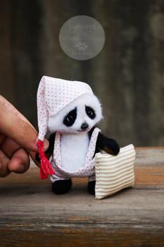 Panda toy needle felted
