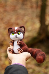 Author cat Saenes Needle Felted 1 of 7 by Lyntoys