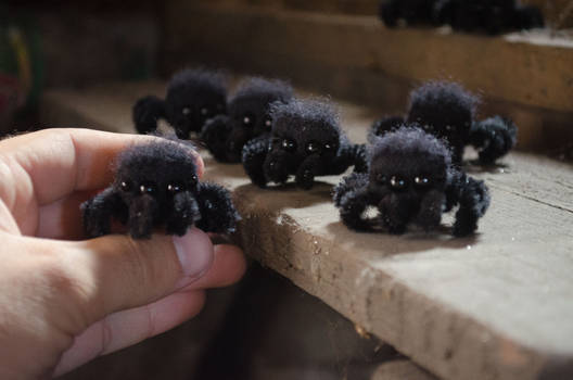 Not scary Arachnids, Needle Felted Dolls