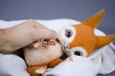 The Squirrel Needle Felted toy ooak