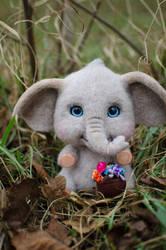 Baby Elephant Needle felted toy