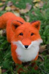 Fox Finn Needle felted Handmade sculpture