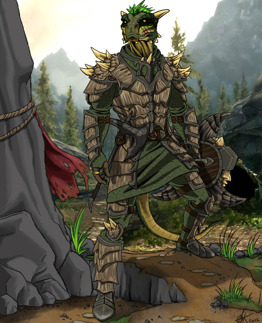 Argonian Warrior by canius on DeviantArt