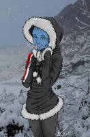 Liara's Winter Wear by canius