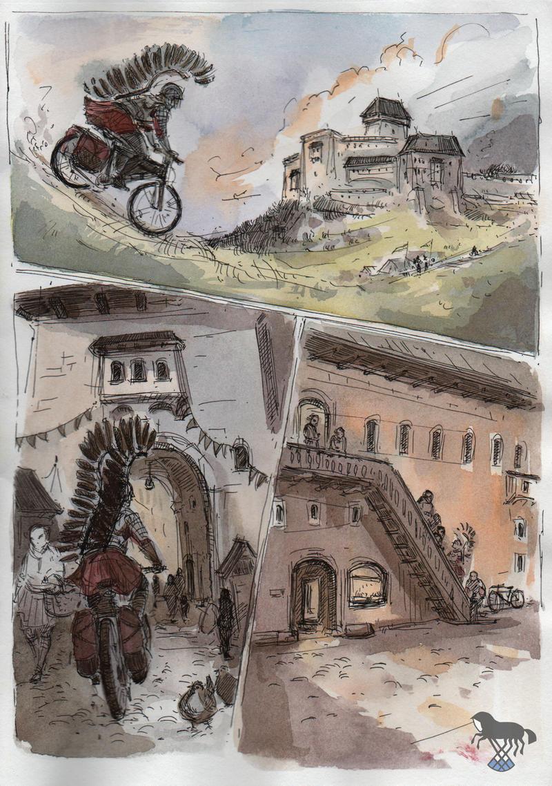 Rycerze na rowerze 2 by OblokMagellana